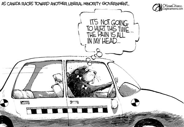 Cardow - The Ottawa Citizen - CANADA Crash Test - English - CANADA Liberals voters election