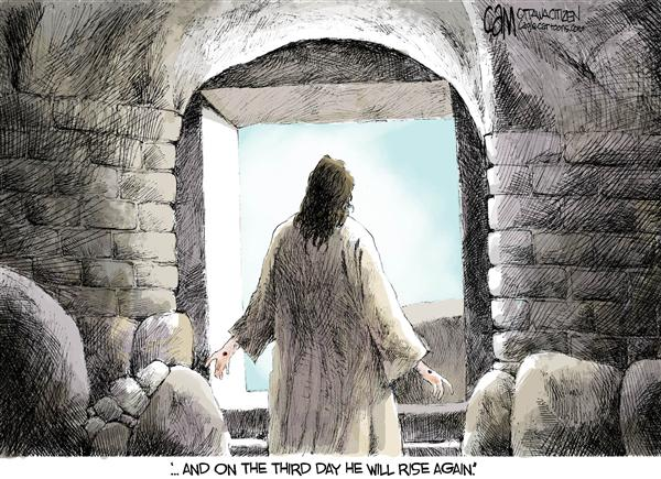 Cardow - The Ottawa Citizen - Rise Again COLOR - English - Easter Jesus Christ resurrection religion faith Christianity