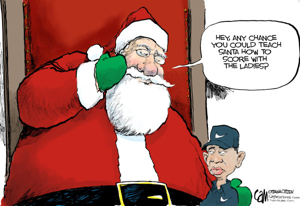 Advice for Santa COLOR © Cardow,The Ottawa Citizen,Tiger, Woods,