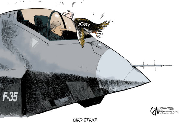 83284 600 CANADA Bird Strike cartoons