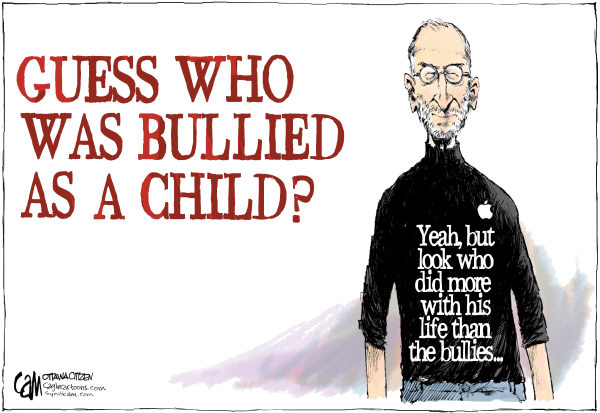 Bullied COLOR © Cardow,The Ottawa Citizen,Steve, Jobs, bullying, bullies, life, success, biography, business