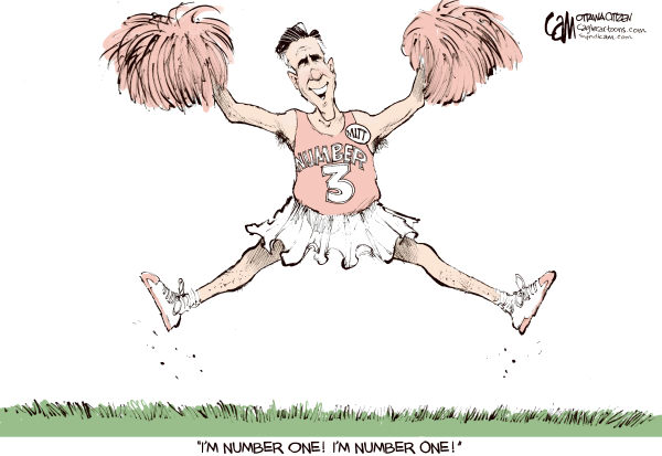 Cardow - The Ottawa Citizen - Romney Number one CMYK - English - Mitt, Romney, republicans, GOP, frontrunner, 2012, candidate
