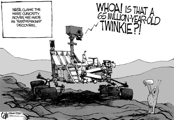 Cardow - The Ottawa Citizen - Earthshaking - English - Mars, curiosity, rover, discovery, Twinkies, life, organism, ancient