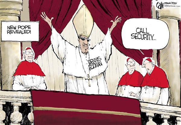 Cardow - The Ottawa Citizen - Pope Revealed COLOR - English - Pope, Catholic, Church, Dennis, Rodman, Vatican