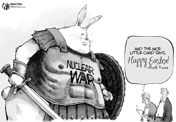 Cardow - The Ottawa Citizen - Easter - English - Easter, 2013, North, Korea, nukes, war, nuclear, threat