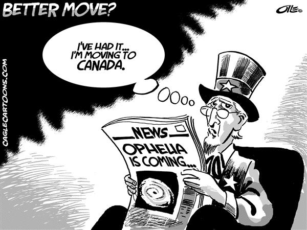 Olle Johansson - Sweden - Better Move - English - Hurricane, hurricanes, storm, storms, Ophelia, Uncle Sam, Move, moving, canada, canadian, hurricane season, news, newspaper, katrina
