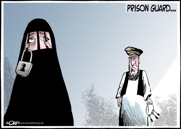 Olle Johansson - Sweden - Prison guard - English - oppress, woman,hiding, face,  taliban, key, depressed, extremist, islam, grid, capture, tradition, religion
