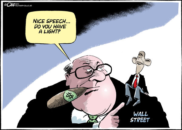 77644 600 Wall Street and Obama cartoons