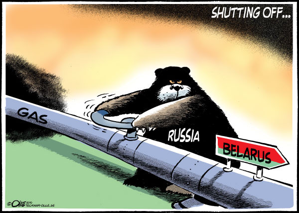 Olle Johansson - Sweden - Shutting off the Gas-Color - English - Russia, Belarus, Gas, pipeline, Cut, Dmitry Medvedev, Russian, president,