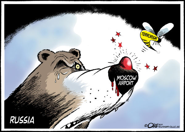Olle Johansson - Sweden - Hurted - English - Mowcow, Russia, Terrorism, Terror, Wasp, Nose, Bear, Hurted, Death, Airport, Security