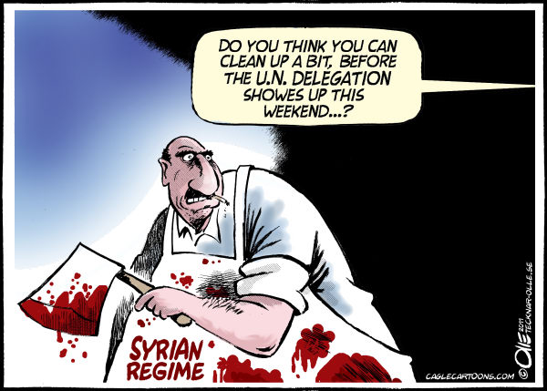 Olle Johansson - Sweden - Clean up a bit - English - Syrian President, Bashar al-Assad, Syria, demonstration, Regime, Butcher