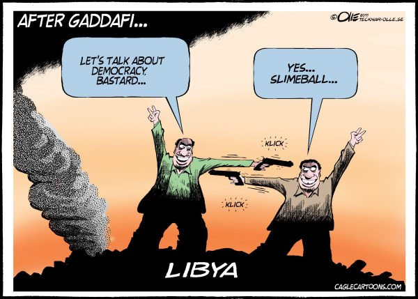 99735 600 Libya after Gadaffi cartoons