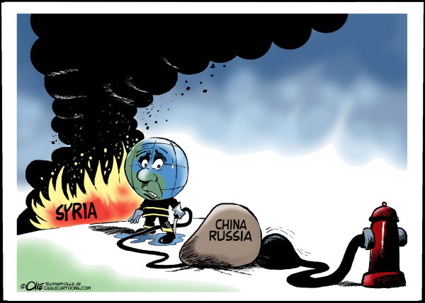 Syria Blocked water © Olle Johansson,Sweden,Syria, Fire, Water, Stone Russia, China, Veto,