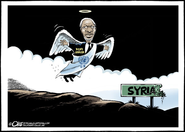 Olle Johansson - Sweden - Peace angel - English - Kofi Annan, United Nation, Peace, Syria, Message, Violence, Regime