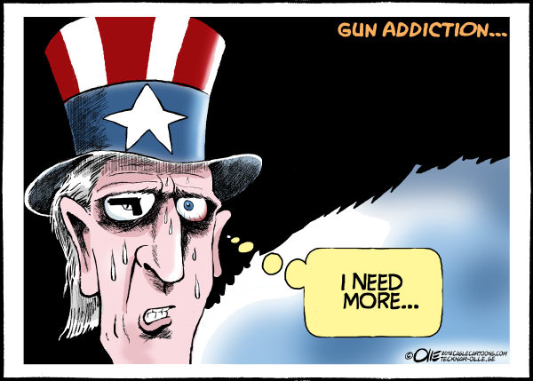 Olle Johansson - Sweden - Gun addiction - English - Uncle Sam, Addicted, Gun, Fear, Culture, Colorado, Mass shooting, Killing