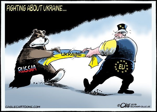 Olle Johansson - Sweden - Fighting about Ukraine - English - Ukraine, Russia, Bear, EU, Europe, Fighting,
