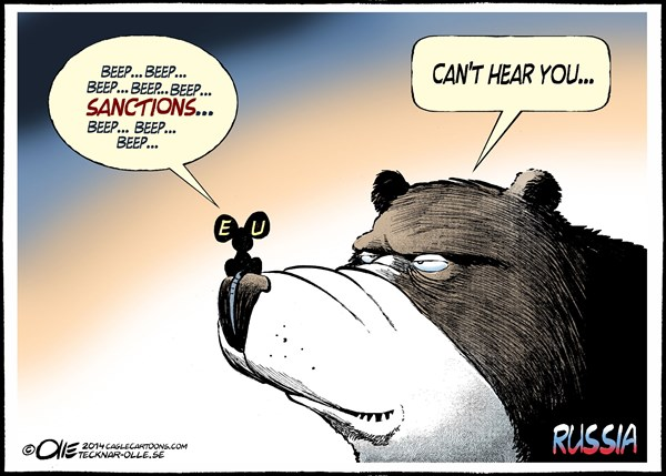 Olle Johansson - Sweden - The mouse and the bear Color - English - Mouse,EU,Sanctions,Bear,Russia,nose,Ukraine