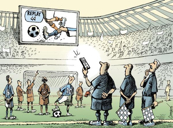 80335 600 Instant Replay in Soccer cartoons