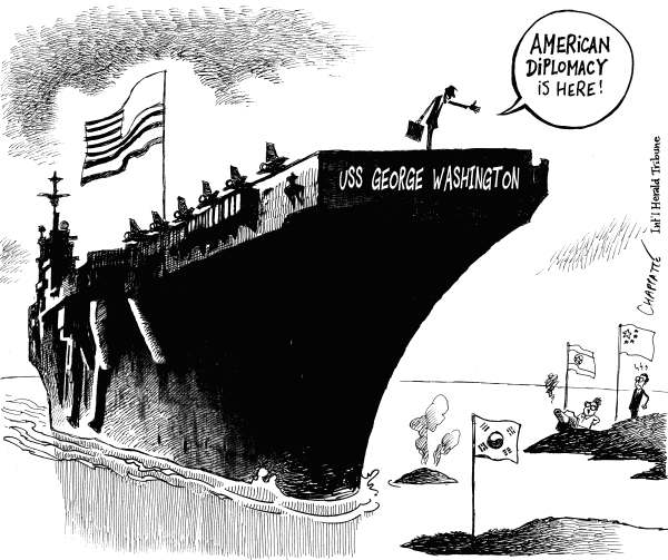 86156 600 US Carrier In Korean Waters cartoons
