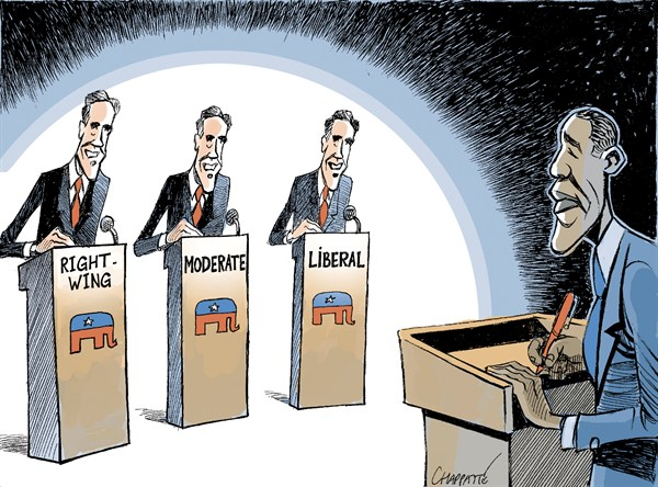 119981 600 ROMNEY vs OBAMA cartoons