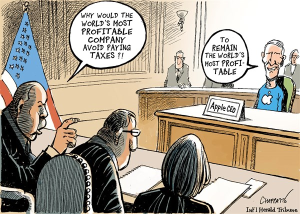 132113 600 Apple avoids corporate taxes cartoons