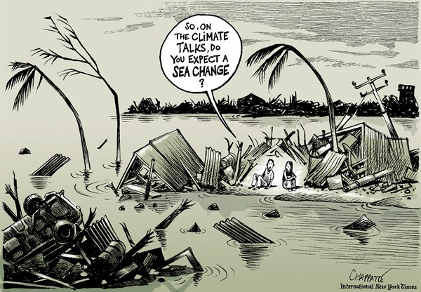 140094 600 TYPHOON HAIYAN and the CLIMATE TALKS cartoons