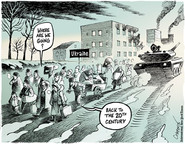 War in Europe © Patrick Chappatte,The International New York Times,Ukraine, Russia, Europe, War, Military, History, 1945