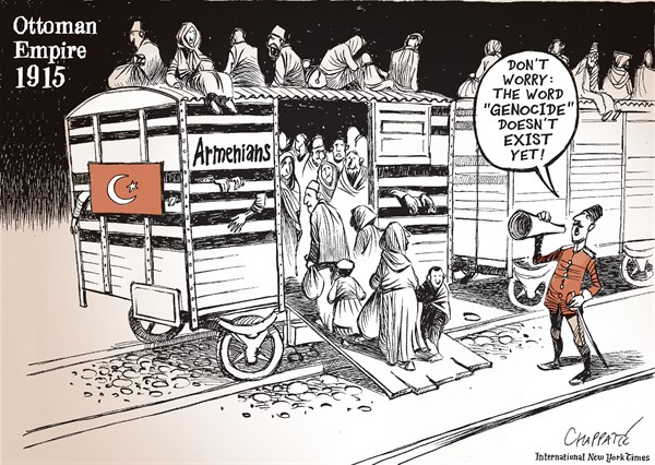 Armenians  100 years ago © Patrick Chappatte,The International New York Times,Turkey, Armenia, History, Genocide