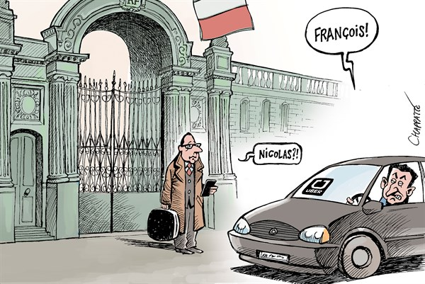 Patrick Chappatte - Le Temps, Switzerland -  - English - France, Holland, Sarkozy, Presidential Election 2017, Uber,