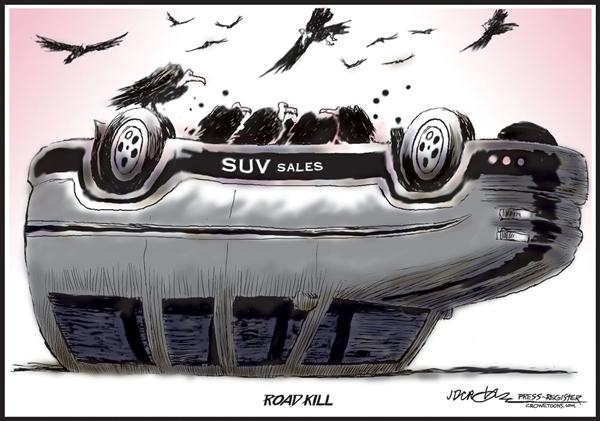 52626 600 SUVs Road Kill cartoons