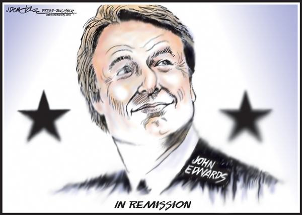 54180 600 John Edwards in Remission cartoons