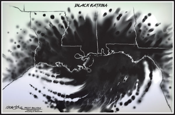 Black Katrina © J.D. Crowe,Mobile Register,Deepwater Horizon, oil spill, oil, drill, Gulf, Gulf of Mexico, disaster, Katrina, Louisiana, Mississippi, Alabama, environment, BP