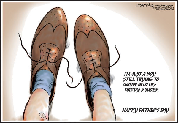 113599 600 Fathers Day shoes cartoons