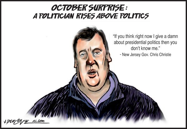 121609 600 Chris Christie  October Surprise cartoons