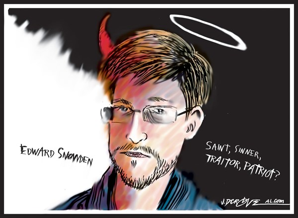 J.D. Crowe - Mobile Register - Edward Snowden Traitor or patriot - English - Edward Snowden, NSA, leak