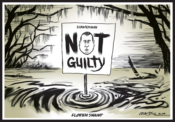 J.D. Crowe - Mobile Register - Zimmerman trial Swamp - English - George Zimmerman, Trayvon Martin,