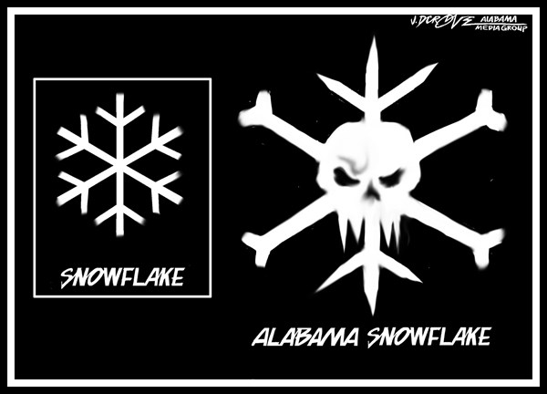 J.D. Crowe - Mobile Register - Alabama Snowflake - English - winter storm, south, Alabama, snow, weather