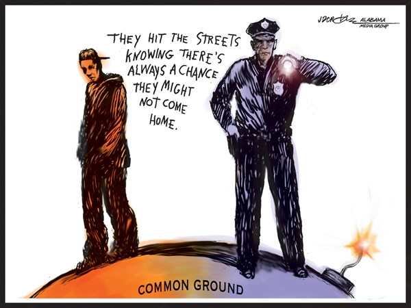 Common Explosive Ground © J.D. Crowe,Mobile Register,police, inner city, youth, riots, race, crime, gangs