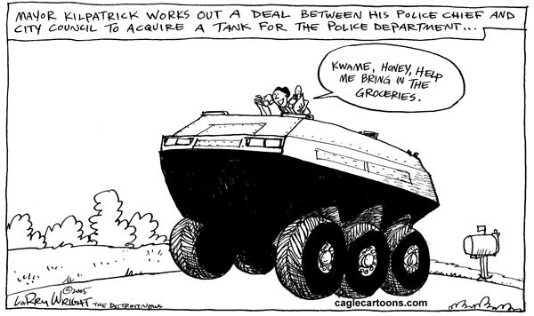 Larry Wright - The Detroit News - LOCAL MI Detroit gets a tank - English - detroit mayor kilpatrick police tank