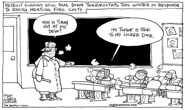 Larry Wright - The Detroit News - LOCAL Learning it cold - English - classroom heating costs