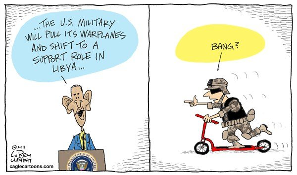 Larry Wright - The Detroit News - Warplane Shift CORRECTED - English - Obama, military, Libya, no-fly zone, war, army, soldier