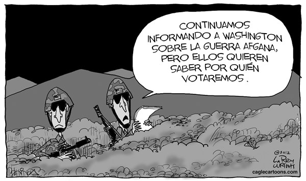 Larry Wright - The Detroit News - Voto Belico - Spanish - Medio,Oriente,Afghanistan,ejercito,seguridad,afghana,guerra,tropas