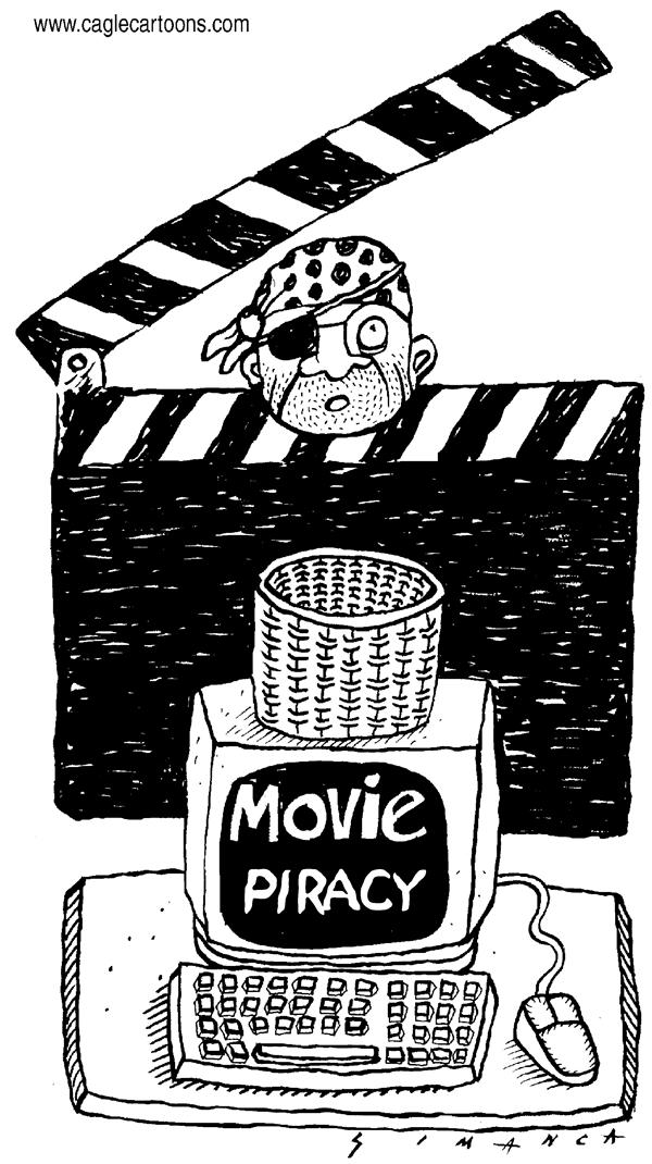 Osmani Simanca - Brazil, www.caglecartoons.com - Movie Piracy - English - movies, film, piracy, internet, download, hollywood