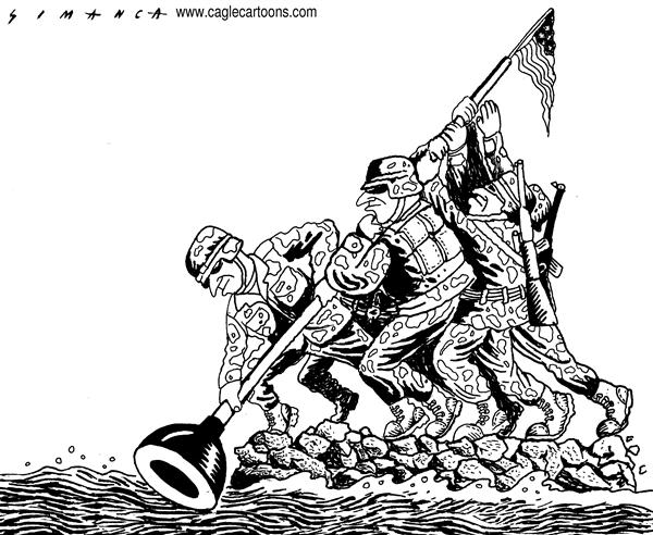 Osmani Simanca - Brazil, www.caglecartoons.com - Katrina Cleanup - English - Hurricane, Katrina, disaster, New, Orleans, tragedy