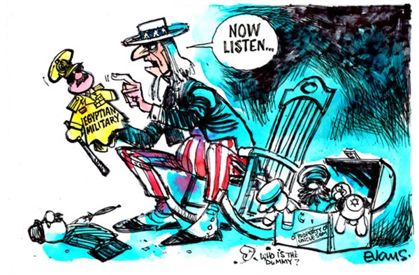 Uncle Sams Puppets © Malcolm Evans,New Zealand,egypt,military,uncle sam,democracy,listen,egypt-failing
