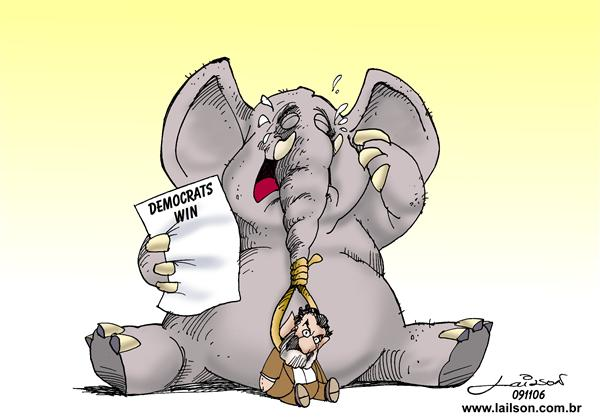 Lailson - Humor World - Crying Elephant - English - GOP republican elections saddam iraq democrats