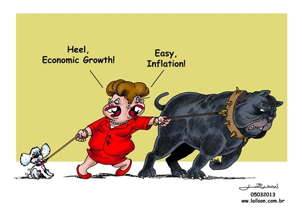 Lailson - Humor World - The dogs of the Brazilian economy - English - Dilma Rousseff, Brazil,economy,inflation,economic growth