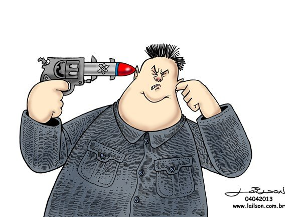 Lailson - Humor World - Suicidal Kim - English - kim jong-un,korea,atomic bomb