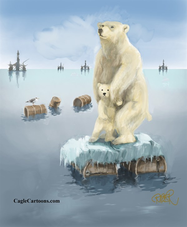 131854 600 Polarbear on oilbars cartoons