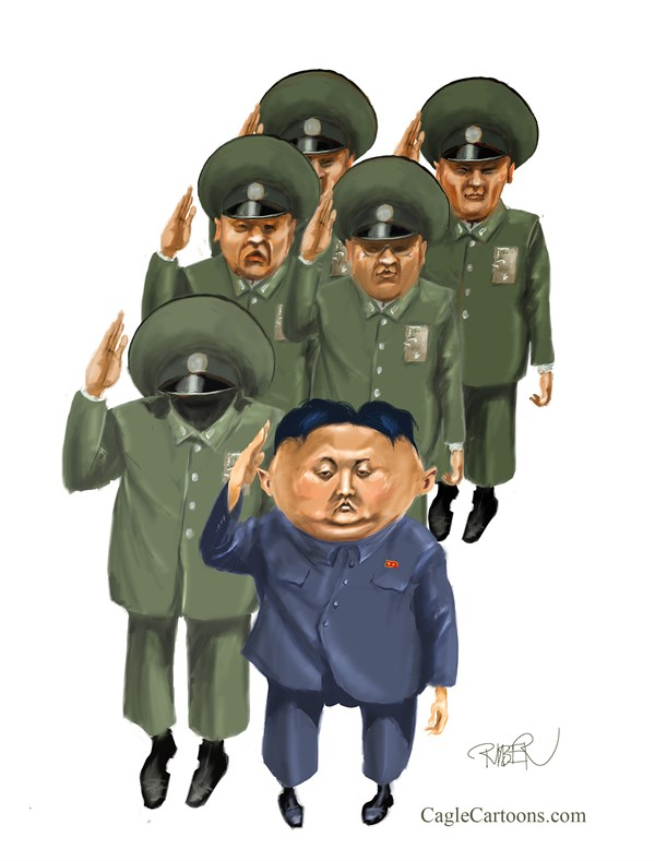 142056 600 Kim Il Jung and headless guy cartoons